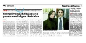 Alessia Scarso regista italiana donna montatrice sopra e sotto il tavolo giampiero marrazzo giornale di sicilia