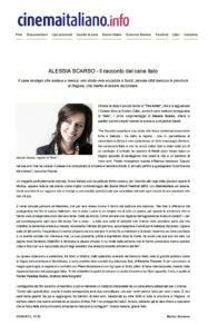 Alessia Scarso regista italiana donna film Italo scicli rassegna stampa marco bocci cinema italiano cinemaitaliano.info