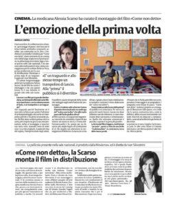 Alessia Scarso regista italiana donna film Come non detto montatrice la sicilia