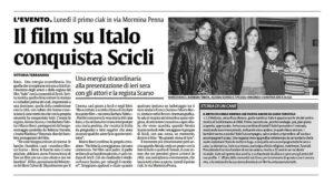 Alessia Scarso regista italiana donna film Italo scicli rassegna stampa marco bocci la sicilia