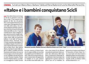Alessia Scarso regista italiana donna film Italo scicli rassegna stampa marco bocci giornale di sicilia