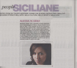 Alessia Scarso regista italiana donna film Italo la sicilia siciliane