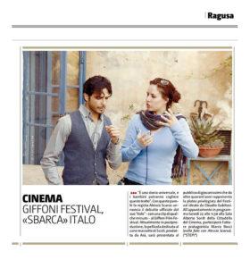 Alessia Scarso regista italiana donna film Italo scicli rassegna stampa marco bocci giffoni film festival giornale di sicilia