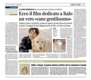 Alessia Scarso regista italiana donna film Italo scicli rassegna stampa marco bocci cane gentiluomo il giornale