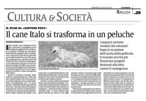Alessia Scarso regista italiana donna film Italo scicli rassegna stampa marco bocci cane peluche la sicilia