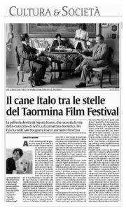 Alessia Scarso regista italiana donna film Italo scicli rassegna stampa marco bocci taormina film festival cane la sicilia