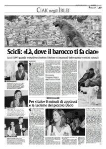 Alessia Scarso regista italiana donna film Italo scicli rassegna stampa marco bocci taromina film festival la sicilia barocco applausi