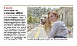 Alessia Scarso regista italiana donna film Italo scicli rassegna stampa marco bocci la sicilia italo barocco minsk
