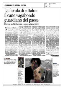 Alessia Scarso regista italiana donna film Italo scicli rassegna stampa corriere della sera favola cane vagabondo marco bocci