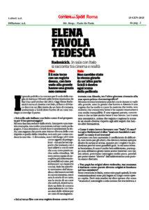 Alessia Scarso regista italiana donna film Italo scicli rassegna stampa corriere dello sport elena radonicich