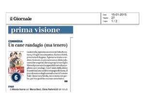 Alessia Scarso regista italiana donna film Italo scicli rassegna stampa il giornale cane randagio