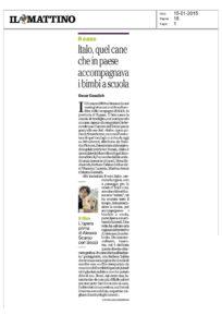 Alessia Scarso regista italiana donna film Italo scicli rassegna stampa il mattino cane