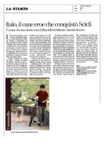 Alessia Scarso regista italiana donna film Italo scicli rassegna stampa cane eroe la stampa