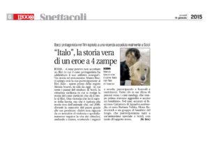 Alessia Scarso regista italiana donna film Italo scicli rassegna stampa leggo storia vera quattro zampe