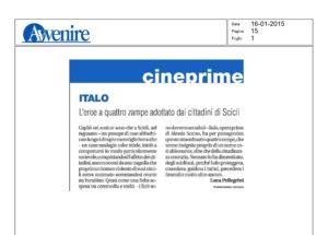 Alessia Scarso regista italiana donna film Italo scicli rassegna stampa avvenire eroe a quattro zampe