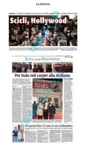 Alessia Scarso regista italiana donna film Italo scicli rassegna stampa red carpet la sicilia hollywood