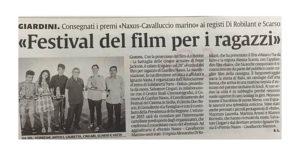 Alessia Scarso regista italiana donna film Italo giardini naxos la sicilia festival del film per ragazzi rassegna stampa