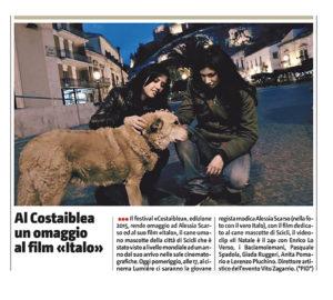 Alessia Scarso regista italiana donna film Italo rassegna stampa giornale di sicilia costaiblea film festival