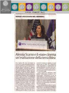 Alessia Scarso regista italiana donna film Italo ragusani nel mondo terra iblea