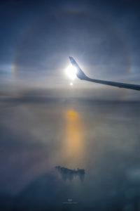 Alessia Scarso astrofotografa astrofotografia ruota di Issione Alone solare Palmarola aereo fotometeore epod usra nasa