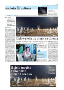Alessia Scarso astrofotografa cielo stelle musica e cinema notte di san lorenzo percorso sonoro prequel maganuco Modica La sicilia