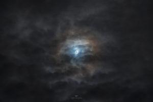 Alessia Scarso astrofotografa astrofotografia luna piena alone lunare nuvole