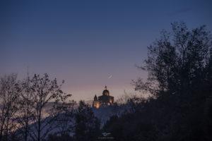Astrofotografa Alessia Scarso astrofotografia san luca bologna luna 3% crepuscolo