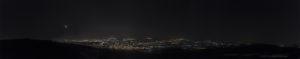 Astrofotografa Alessia Scarso veduta panoramica notturna Castiglione Ragusa congiunzione luna venere