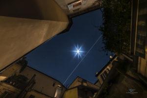 Astrofotografa Alessia Scarso astrofotografia ISS Stazione Internazionale Spaziale Bologna luna cortile