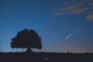 Astrofotografa Alessia Scarso astrofotografia muri a secco paesaggio notturno carrubo cometa neowise