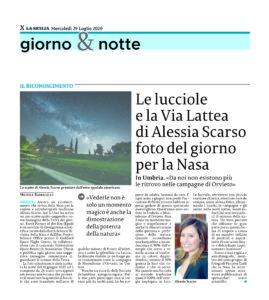 Alessia Scarso astrofotografa Nasa Via Lattea Lucciole La Sicilia