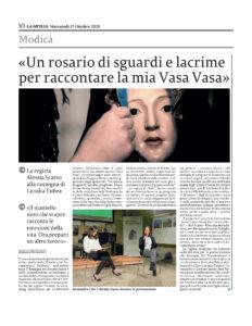 regista alessia scarso rassegna stampa la sicilia docufilm vasa vasa devozione popolare