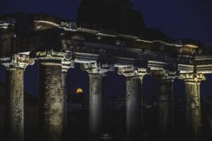 alessia scarso astrofotografa astrofotografia luna piena foro romano