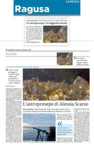 astrofotografa regista alessia scarso rassegna stampa la sicilia astropresepe