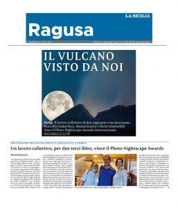 astrofotografa regista alessia scarso rassegna stampa la sicilia photo nighscape awards etna